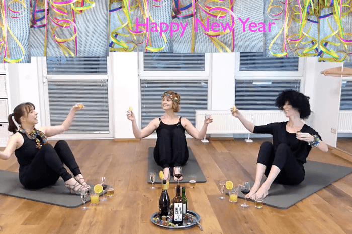 DAS Silvester Workout mit Pilates and Friends  (8 Min)